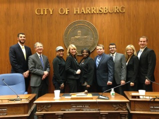 Professor John Dernbach and Students at Harrisburg's City Council
